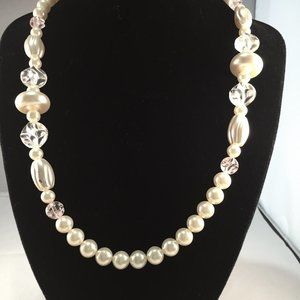"Jewelry - 24"" Faux Pearl and Bead Necklace"